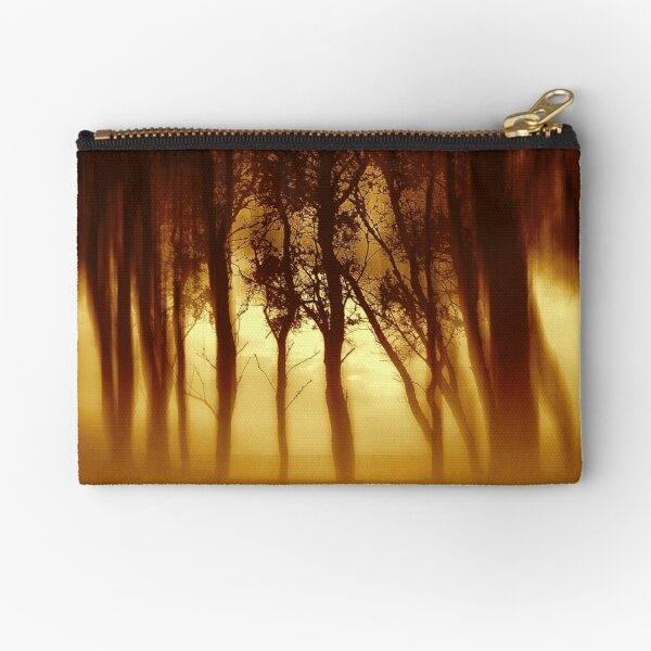 Morning Tree Silhouette(Sepia) Zipper Pouch