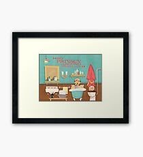 """Carousel of Progress - Uncle Orville - """"No Privacy!"""" Framed Print"""