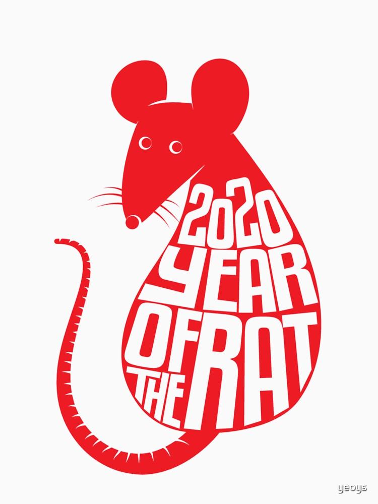 Chinese Zodiac - 2020 Year Of The Rat von yeoys