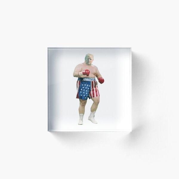 Trump boxing Rocky boxe photo Funny Donald Trump boxing 2020 Potus Acrylic Block