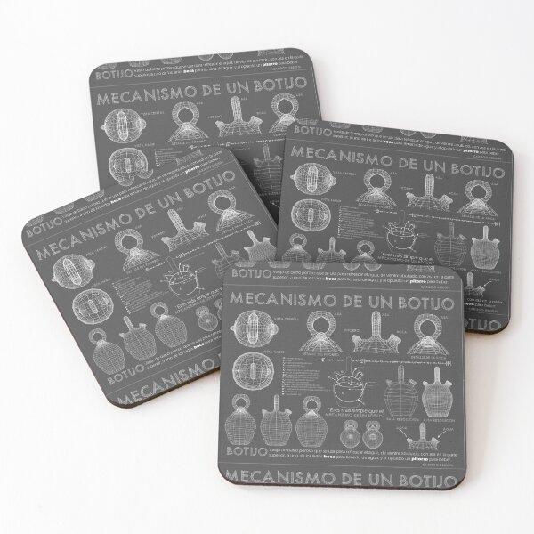 Botijo Blueprint grey Coasters (Set of 4)