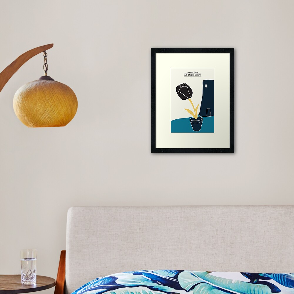 The Black Tulip - 3 colors Framed Art Print