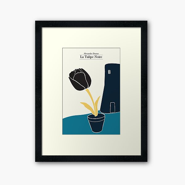 The Black Tulip - 3 colors Framed Art Print