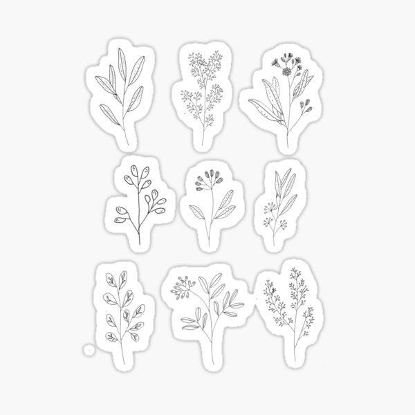 Flower Drawing Sticker Pack Sticker