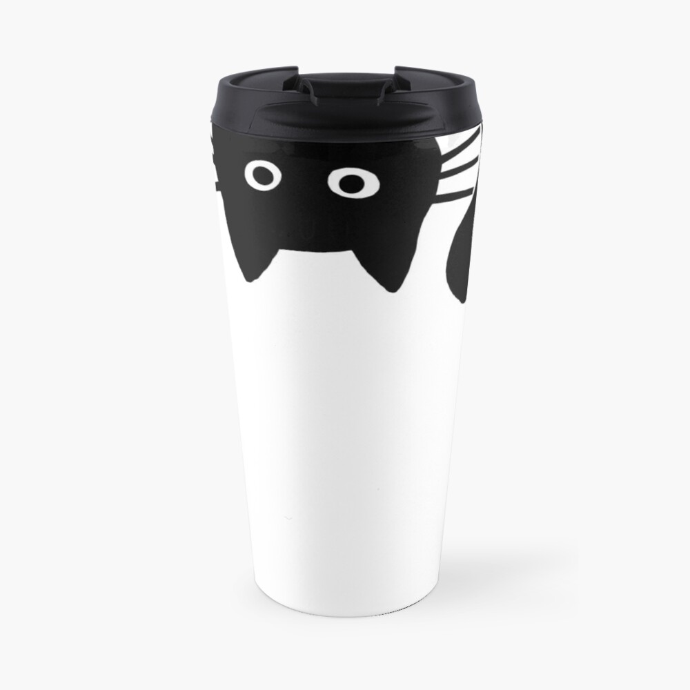 Funny Black Cat Travel Mug