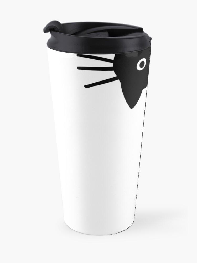 Alternate view of Funny Black Cat Travel Mug