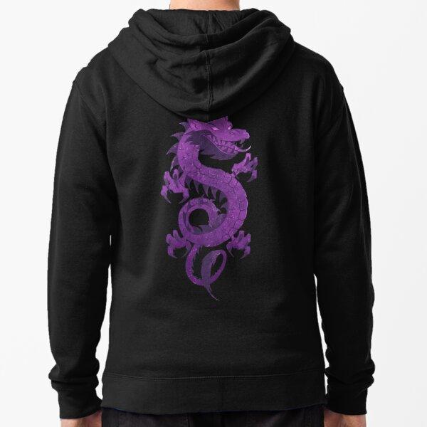 Purple Dragons Zipped Hoodie