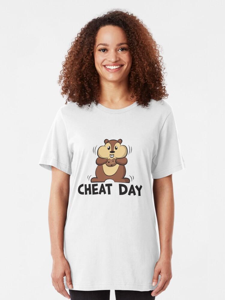 Alternative Ansicht von Diet Motivation - Cheat Day Slim Fit T-Shirt