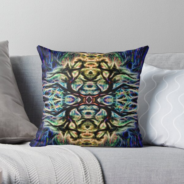 Neon Tree Shapes 7 Throw Pillow