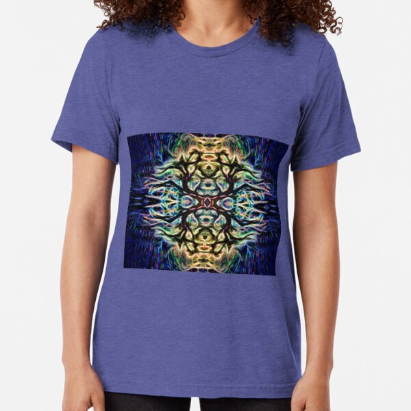 Neon Tree Shapes 7 Tri-blend T-Shirt
