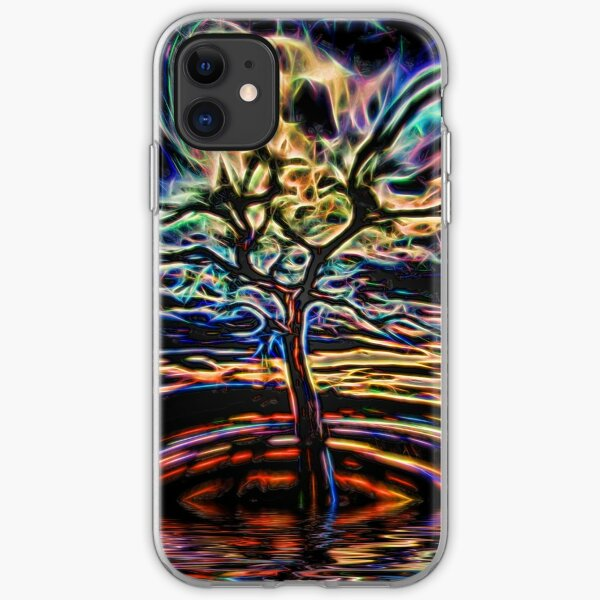 Neon Tree Shapes 11 iPhone Soft Case
