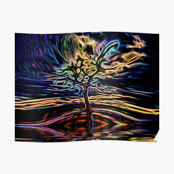 Neon Tree Shapes 11 Poster