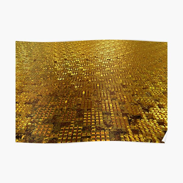 Gold Bars Poster