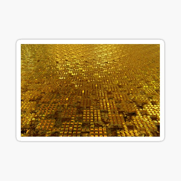Gold Bars Sticker