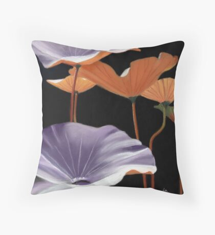 Lotus Leaves painting Throw Pillow