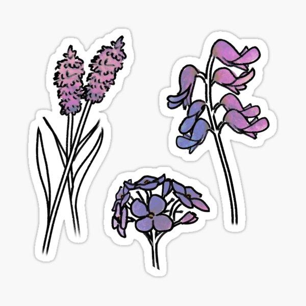 lilac wildflowers Sticker