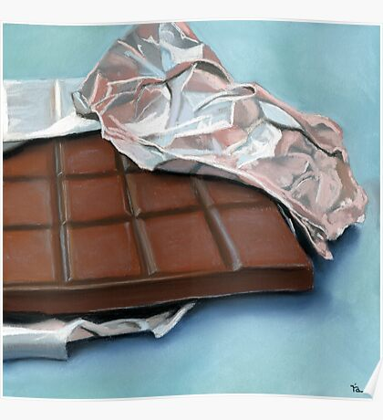 realistic chocolate bar painting Poster