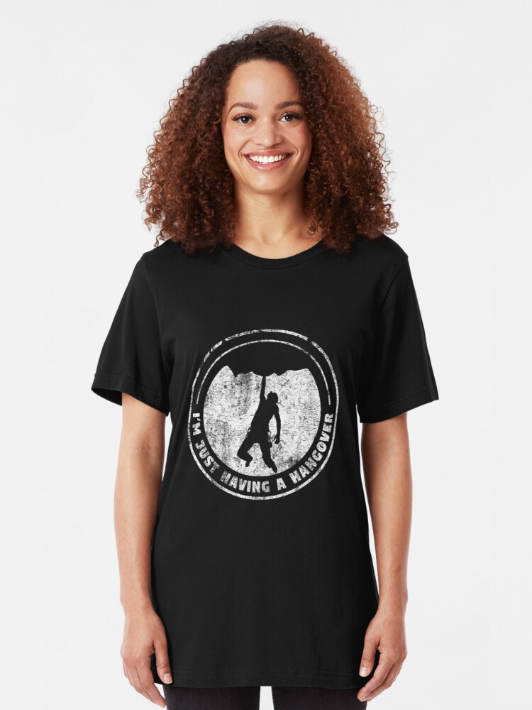 Alternative Ansicht von I'm Just Having A Hang Over - Climbing & Boulder Slim Fit T-Shirt