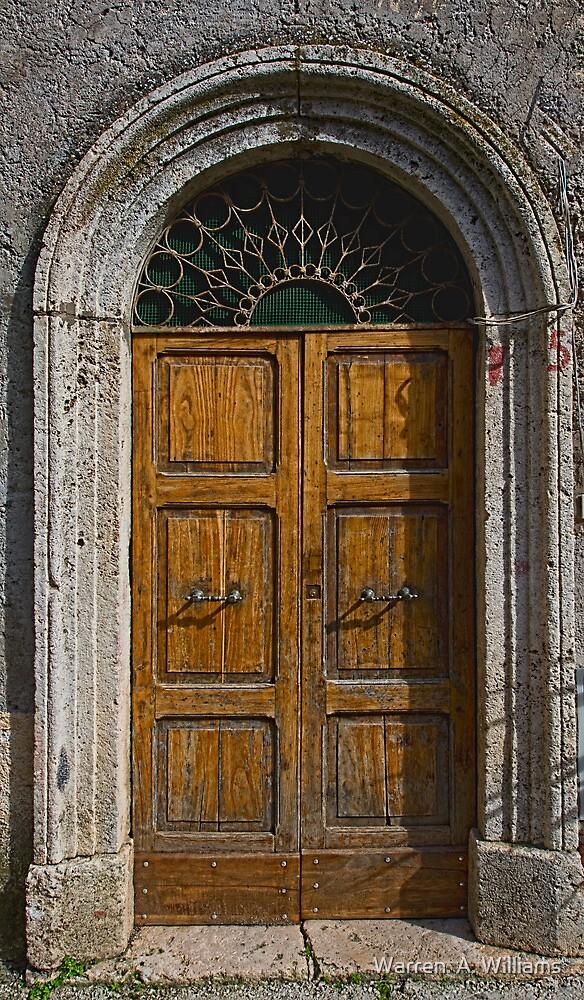 Sgurgola Door in Italy  1 by Warren. A. Williams