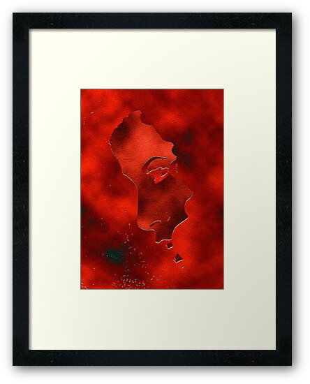Portraet in red by Marlies Odehnal