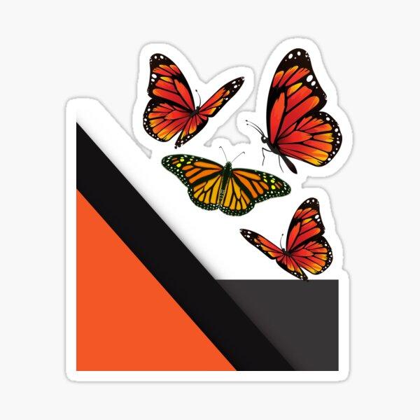 Abstract Monarch Butterflies Sticker