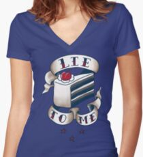 """Lie To Me"" Women's Fitted V-Neck T-Shirt"