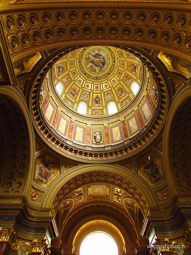 Inside the Basilica of St Stephen by wiggyofipswich