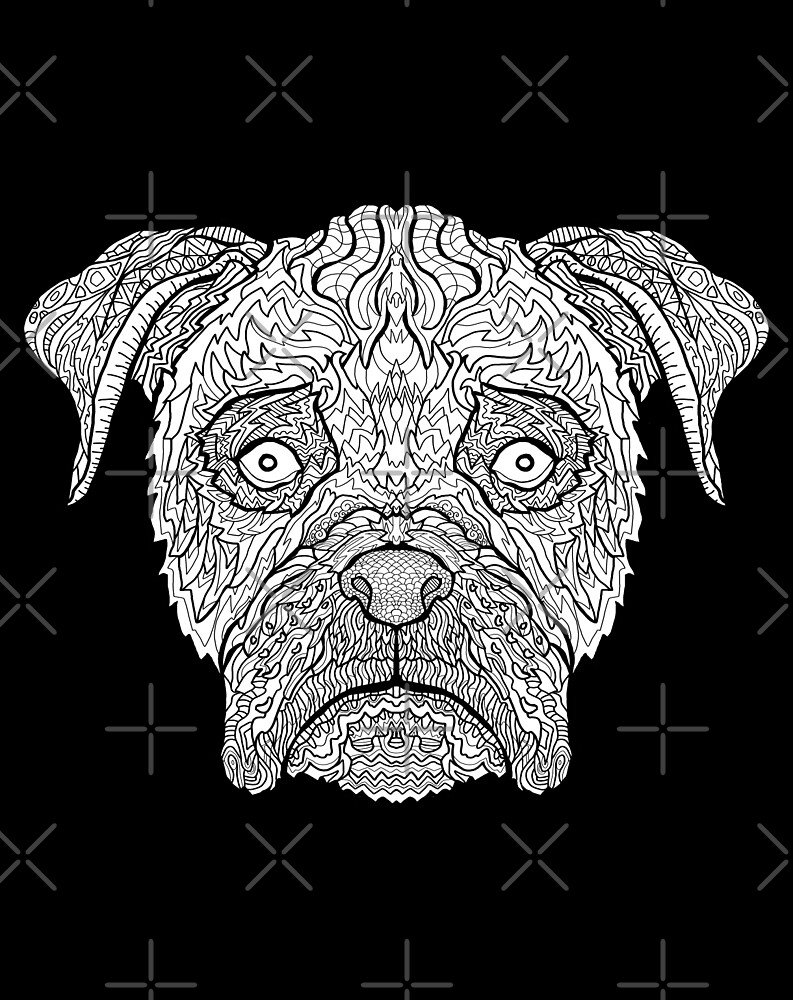 Boxer Dog  Detailed Dogs  Complicated Coloring by complicolor