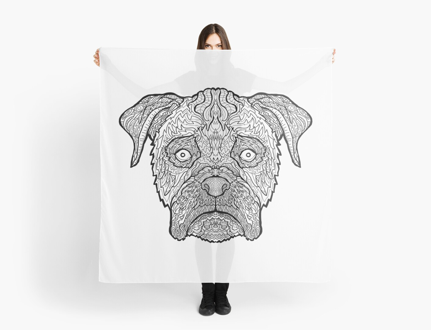 boxer dog detailed dogs complicated coloring