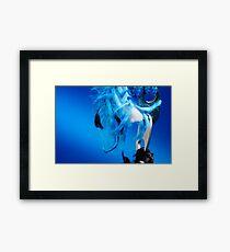 Blue Frey Framed Print