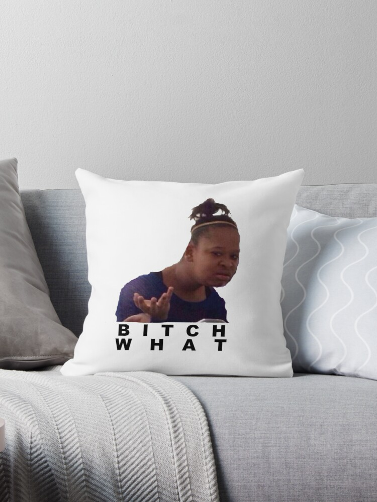 """""""confused black girl meme """" Throw Pillow by lc12091 ..."""