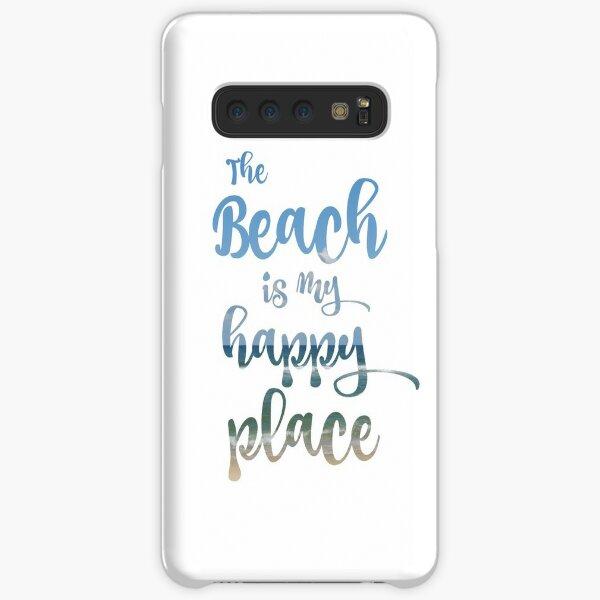 Beach Happy Place Typography Samsung Galaxy Snap Case