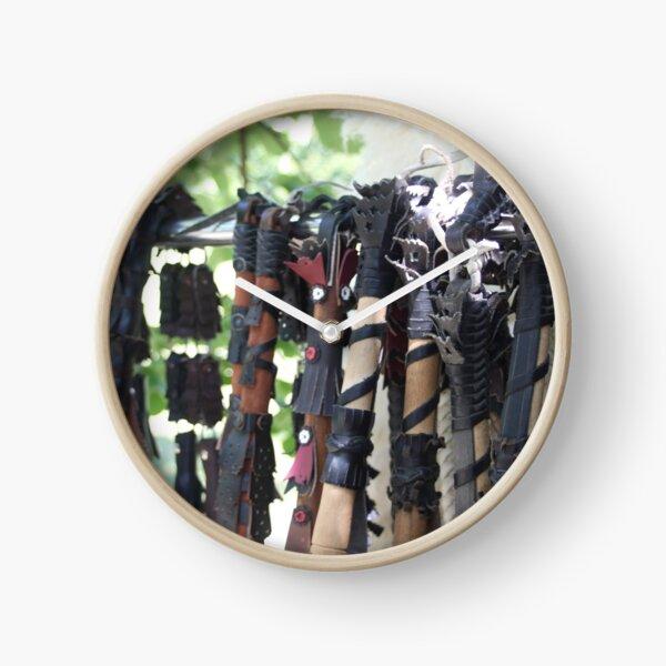 Hand Braided Bullwhips Clock