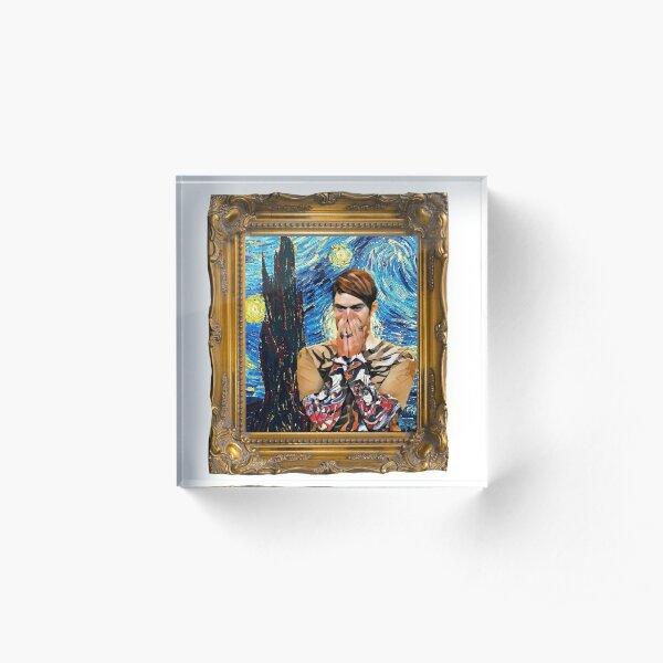 Stefon SNL Starry Night Painting Acrylic Block
