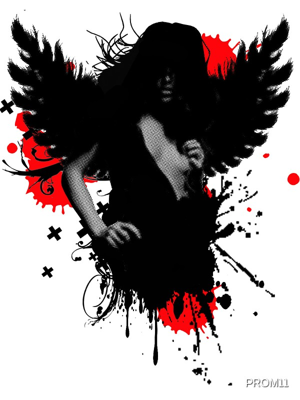 bad angel stickers by prom11 redbubble. Black Bedroom Furniture Sets. Home Design Ideas