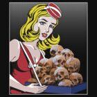 cigarette girl - skulls by Bonnie Aungle