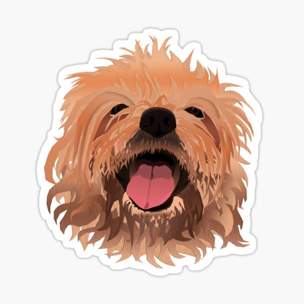 Furry Scruffy Dog Sticker