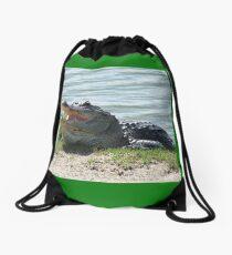 How Doth The Little Crocodile... Drawstring Bag
