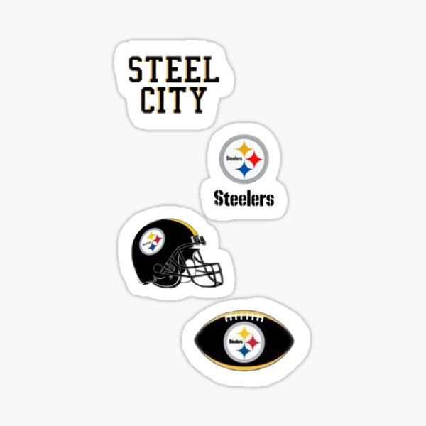 Steelers sticker pack of 4 Sticker
