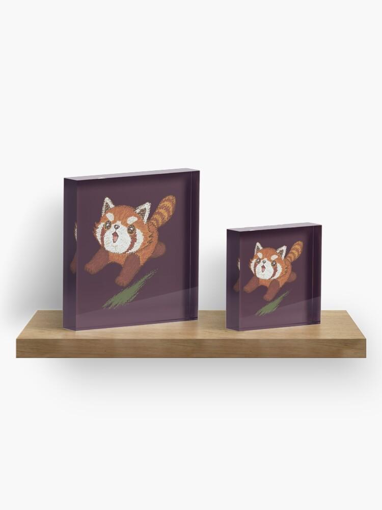 Alternate view of Red panda running Acrylic Block