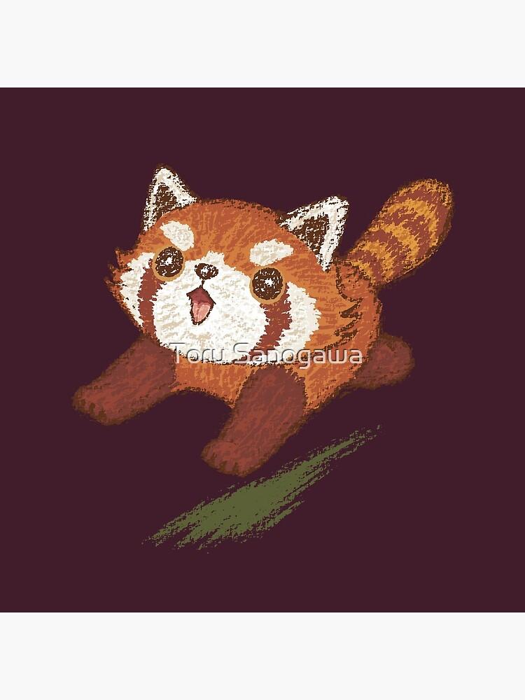 Red panda running by sanogawa