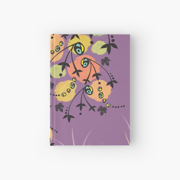 Orange Blob Plant with Purple Background Hardcover Journal Hardcover Journal