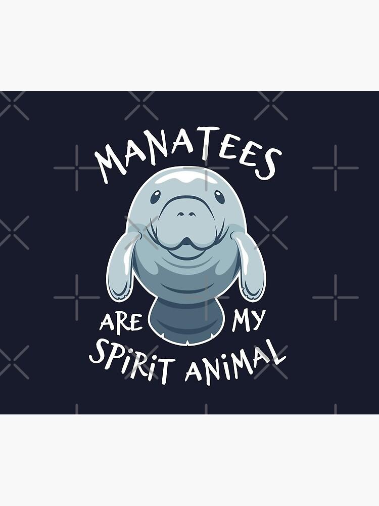 Manatees Are My Spirit Animal - Cute Manatee by Bangtees