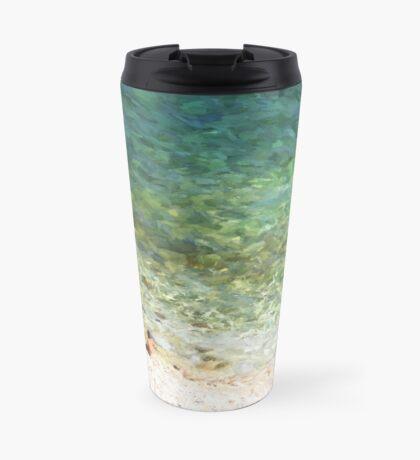 Mediterrainian beach Travel Mug