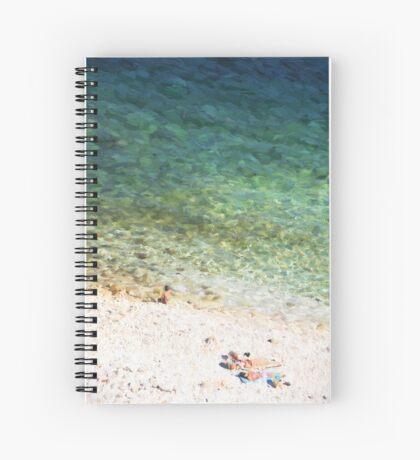 Mediterrainian beach Spiral Notebook
