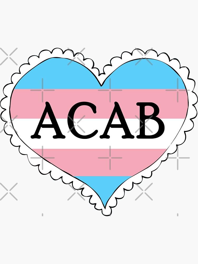 acab trans flag heart by craftordiy