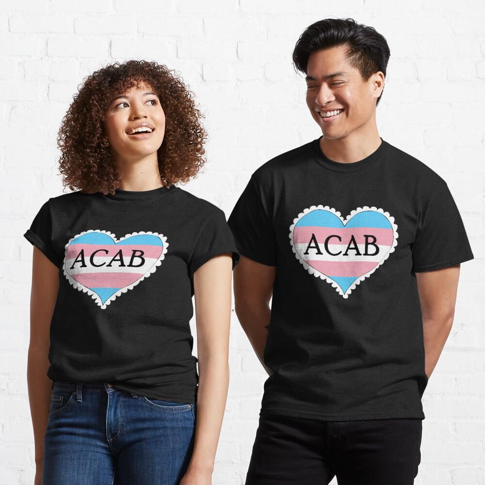 acab trans flag heart Classic T-Shirt