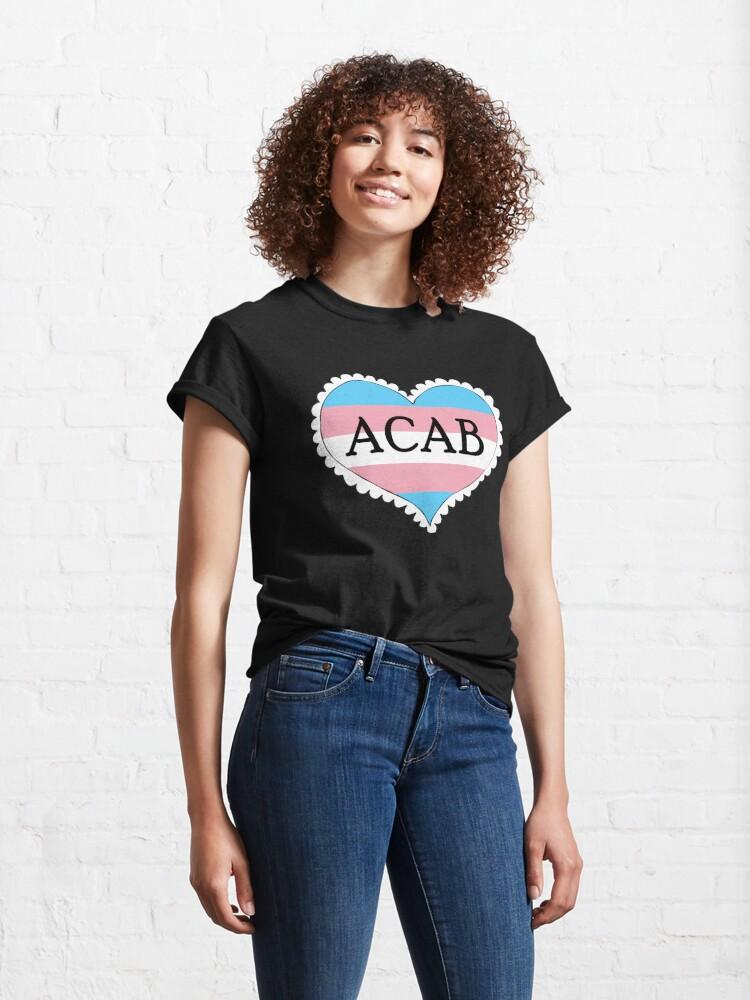 Alternate view of acab trans flag heart Classic T-Shirt