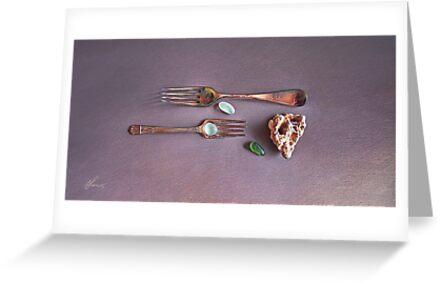 """Still life with old forks"" by Elena Kolotusha"