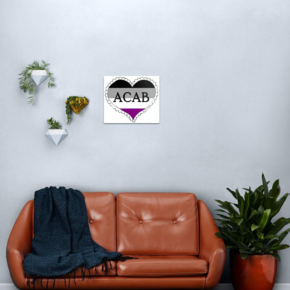 acab asexual flag heart Metal Print